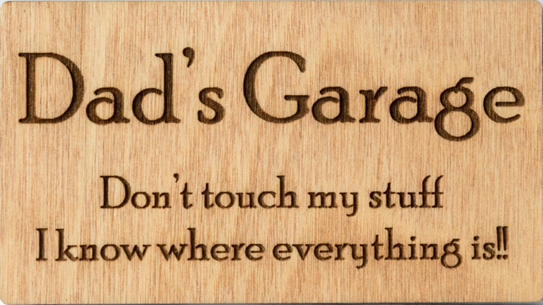 Engraved sign dad garage