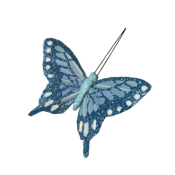 Glittery butterflies - turquoise