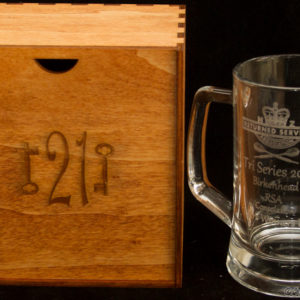 Personalized Beer mug + hand made wooden box