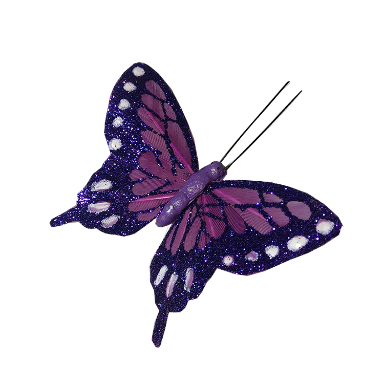 Glittery butterflies - purple