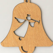 Laser cut Christmas bell decoration
