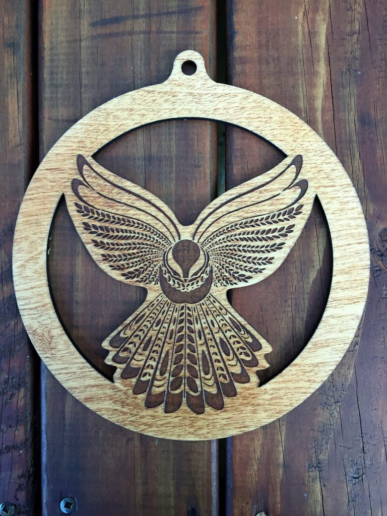 Laser-engraved Christmas decoration