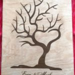 Fingerprint tree guest book