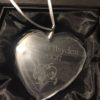 Crystal heart personalized ornament
