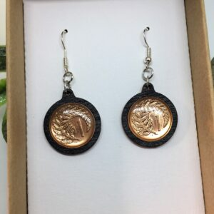 One cent piece earrings