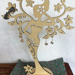 Laser cut jewelry tree