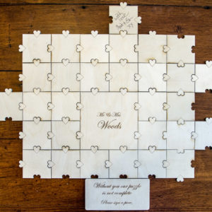 Jigsaw puzzle guest book alternative