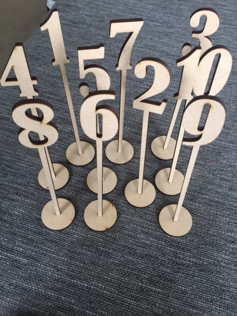MDF table numbers