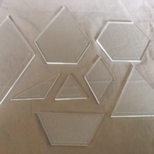 Laser cut quilting templates