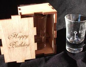 Shot glass with box