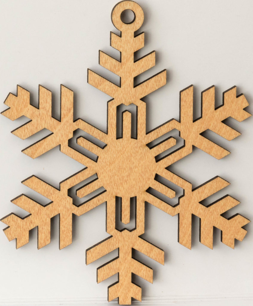Laser cut Christmas decoration